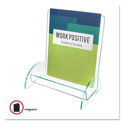 Euro-Style DocuHolder, Magazine Size, 9.81w x 6.31d x11h, Green Tinted. Picture 2