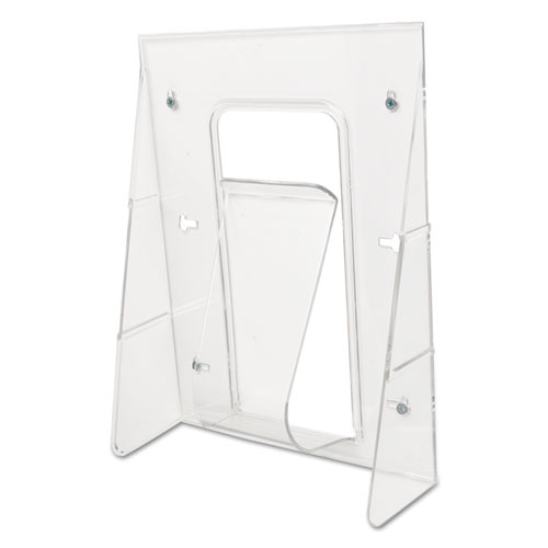 Stand-Tall Wall-Mount Literature Rack, Magazine, 9.13w x 3.25d x 11.88h, Clear. Picture 6