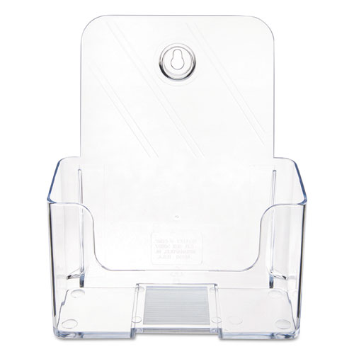DocuHolder for Countertop/Wall-Mount, Booklet Size, 6.5w x 3.75d x 7.75h, Clear. Picture 5