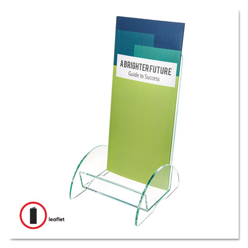 Euro-Style DocuHolder, Leaflet Size, 4.5w x 4.5d x 7.88h, Green Tinted. Picture 7