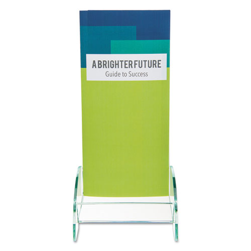 Euro-Style DocuHolder, Leaflet Size, 4.5w x 4.5d x 7.88h, Green Tinted. Picture 8