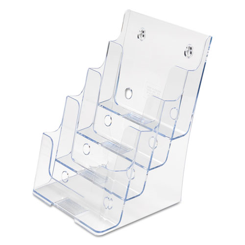 4-Compartment DocuHolder, Booklet Size, 6.88w x 6.25d x 10h, Clear. Picture 7