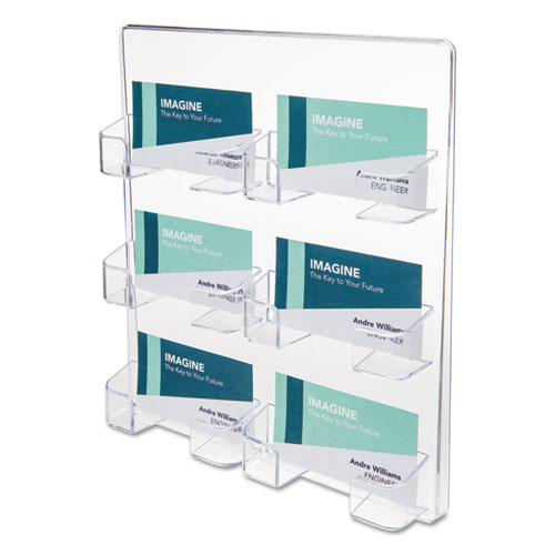6 pocket business card holder 480 card cap 8 12 x 9 34 x - Pocket Business Card Holder