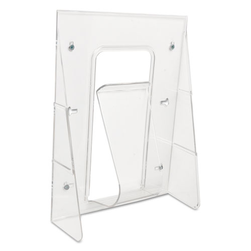 Stand-Tall Wall-Mount Literature Rack, Magazine, 9.13w x 3.25d x 11.88h, Clear. Picture 7