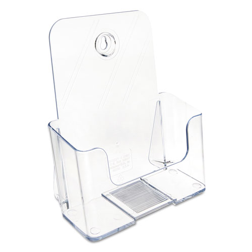 DocuHolder for Countertop/Wall-Mount, Booklet Size, 6.5w x 3.75d x 7.75h, Clear. Picture 7