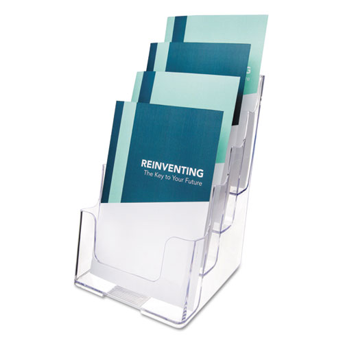 4-Compartment DocuHolder, Booklet Size, 6.88w x 6.25d x 10h, Clear. Picture 1