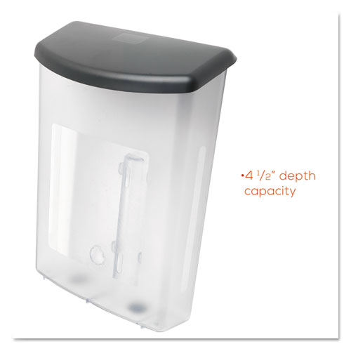 Outdoor Literature Box, 10w x 4.5d x 13.13h, Clear/Black. Picture 9