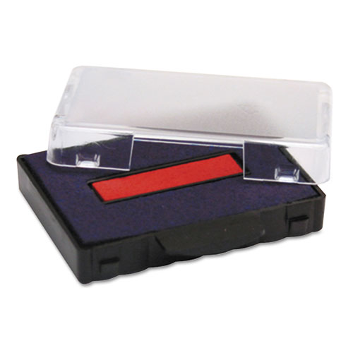 T5440 Dater Replacement Ink Pad, 1 1/8 x 2, Blue/Red. Picture 1