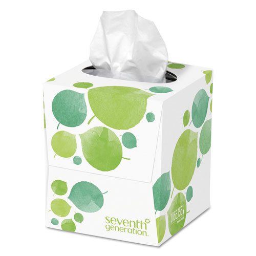 100% Recycled Facial Tissue, 2-Ply, 85 Sheets/Box, 36 Boxes/Carton. Picture 2