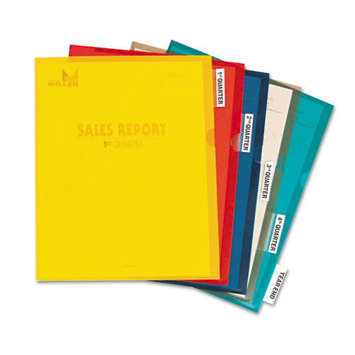 Heavyweight Project Folders with Index Tabs, 1/5-Cut Tab, Letter Size, Assorted Colors, 25/Box. Picture 2