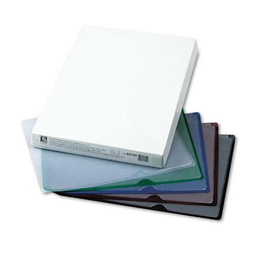 Deluxe Vinyl Project Folders, Letter Size, Assorted Colors, 35/Box. Picture 2