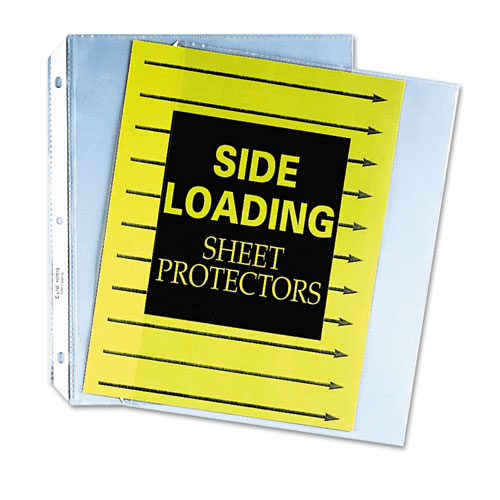 "Side Loading Polypropylene Sheet Protectors, Clear, 2"", 11 x 8 1/2, 50/BX. Picture 2"