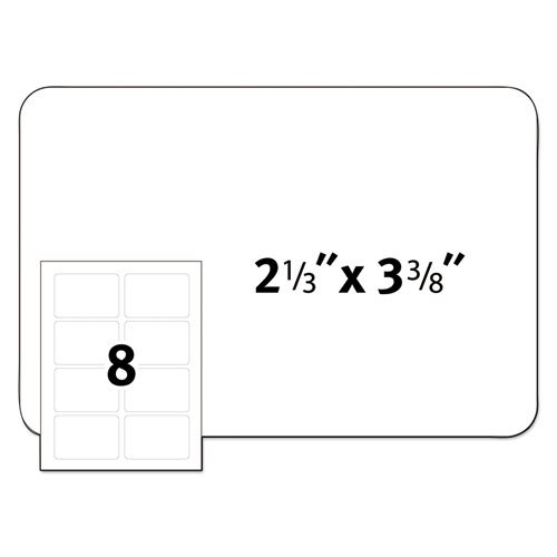 Flexible Adhesive Name Badge Labels, 3.38 x 2.33, White, 160/Pack. Picture 4
