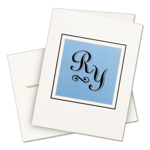 Textured Note Cards, Inkjet, 4 1/4 x 5 1/2, Uncoated White, 50/Bx w/Envelopes. Picture 4