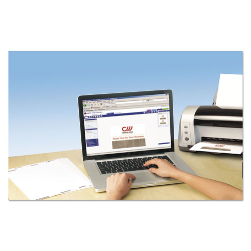 Note Cards, Laser Printer, 4 1/4 x 5 1/2, Uncoated White, 60/Pack with Envelopes. Picture 2
