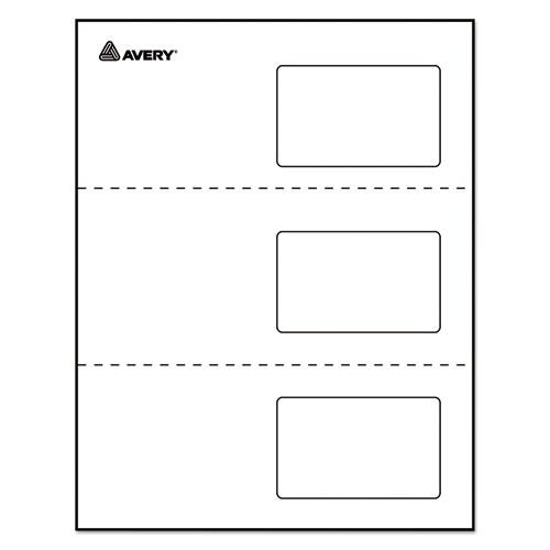 Laminated Laser/Inkjet ID Cards, 2 1/4 x 3 1/2, White, 30/Box. Picture 5