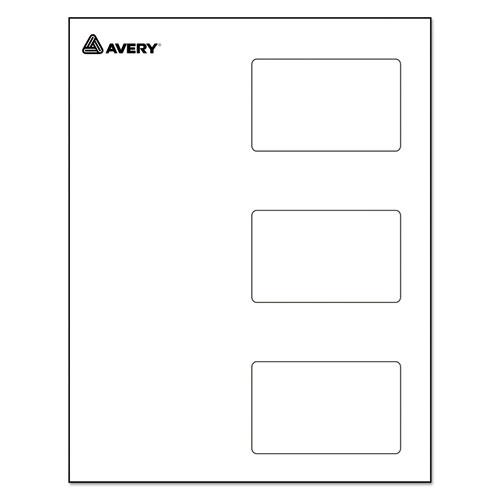 Self-Laminating Laser/Inkjet Printer Badges, 2 1/4 x 3 1/2, White, 30/Box. Picture 2