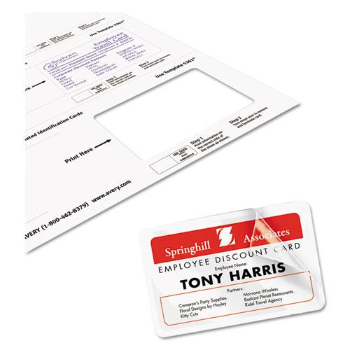 Laminated Laser/Inkjet ID Cards, 2 1/4 x 3 1/2, White, 30/Box. Picture 3