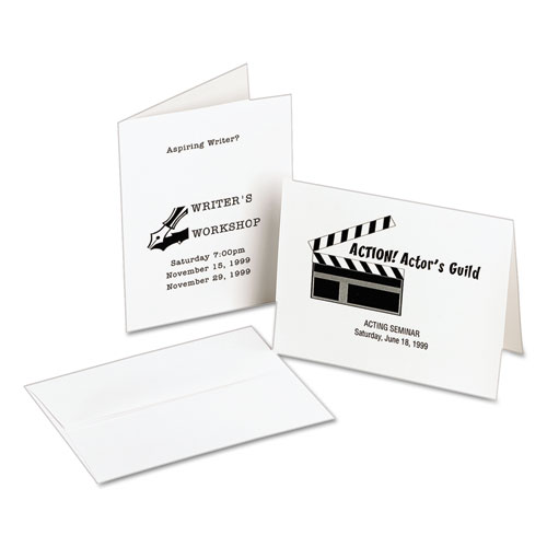 Note Cards, Laser Printer, 4 1/4 x 5 1/2, Uncoated White, 60/Pack with Envelopes. Picture 3