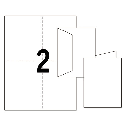 Note Cards, Laser Printer, 4 1/4 x 5 1/2, Uncoated White, 60/Pack with Envelopes. Picture 5
