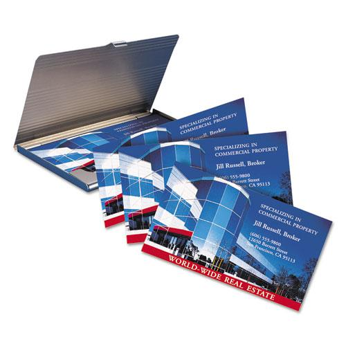 Print-to-the-Edge Microperforated Business Cards with Sure Feed Technology, Color Laser, 2 x 3.5, Wht, 160/Pk. Picture 2
