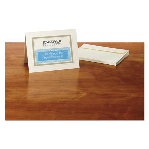 Embossed Note Cards, Inkjet, 4 1/4 x 5 1/2, Matte Ivory, 60/Pk w/Envelopes. Picture 2