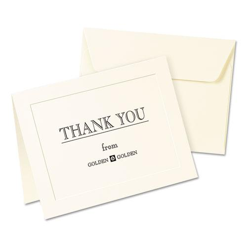 Embossed Note Cards, Inkjet, 4 1/4 x 5 1/2, Matte Ivory, 60/Pk w/Envelopes. Picture 3