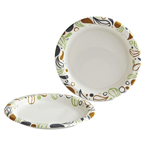"Deerfield Printed Paper Plates, 9"" Dia,Coated/Soak Proof 125 Plates/Pk, 8 Pks/Ct. Picture 2"