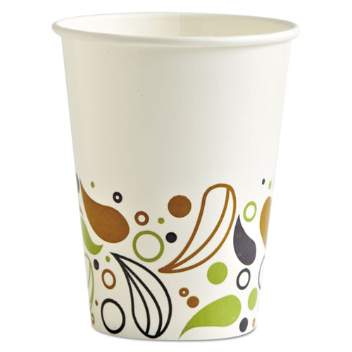 Deerfield Printed Paper Cold Cups, 12 oz, 20 Cups/Sleeve, 50 Sleeves/Carton. Picture 1