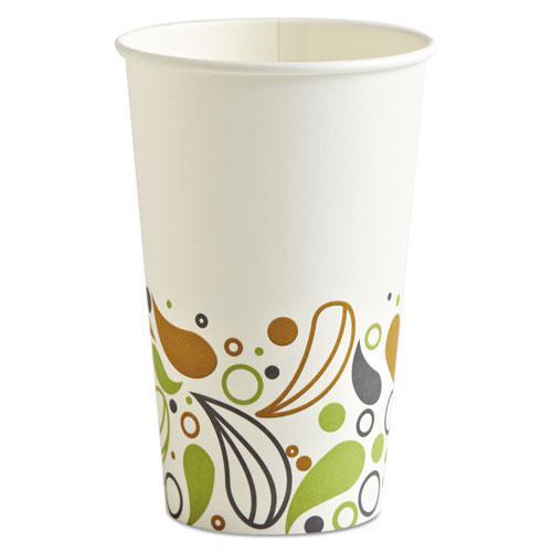 Deerfield Printed Paper Hot Cups, 16 oz, 20 Cups/Sleeve, 50 Sleeves/Carton. Picture 1