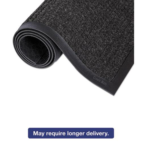 Super-Soaker Wiper Mat with Gripper Bottom, Polypropylene, 24 x 36, Charcoal. Picture 4