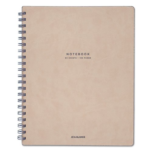 Collection Twinwire Notebook, 1 Subject, Wide/Legal Rule, Tan/Navy Blue Cover, 11 x 8.75, 80 Sheets. Picture 1