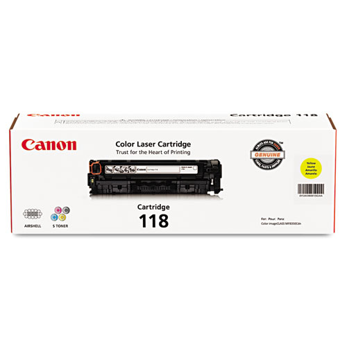 2659B001 (118) Toner, 2,900 Page-Yield, Yellow. Picture 1