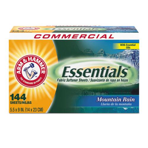 Essentials Dryer Sheets, Mountain Rain, 144 Sheets/Box, 6 Boxes/Carton. Picture 1