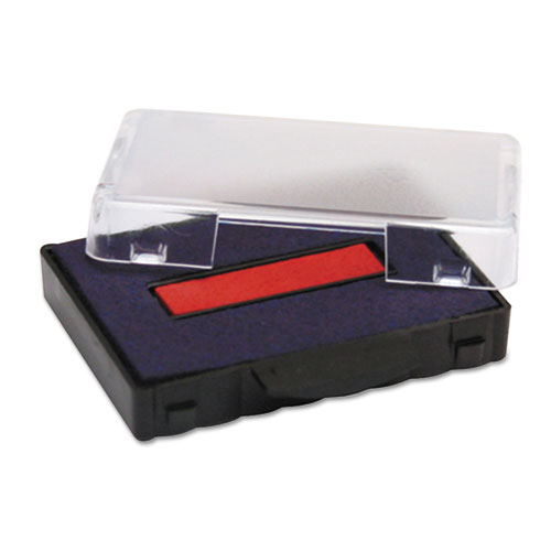T5440 Dater Replacement Ink Pad, 1 1/8 x 2, Blue/Red. Picture 2