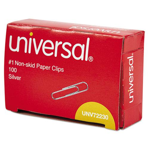 Paper Clips, Small (No. 1), Silver, 100 Clips/Box, 10 Boxes/Pack. Picture 3
