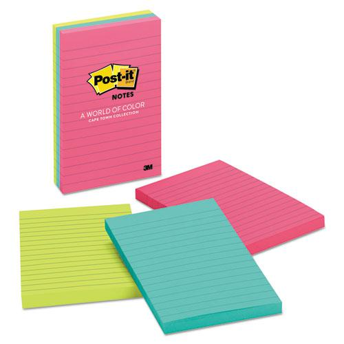 Original Pads in Cape Town Colors, Lined, 4 x 6, 100-Sheet, 3/Pack. Picture 1