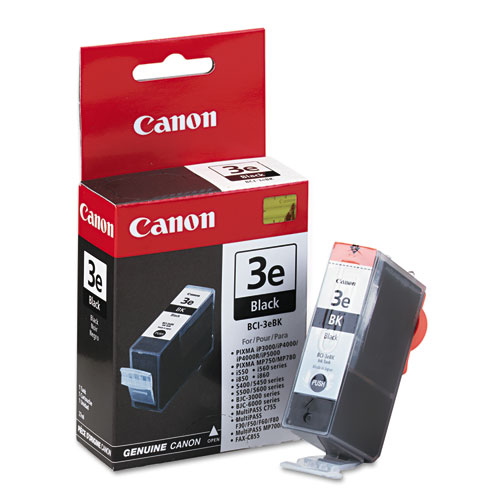 BCI3EBK (BCI-3E) Ink, 560 Page-Yield, Black. Picture 1