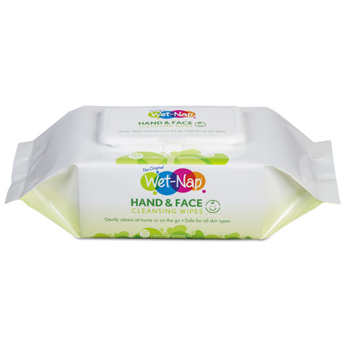 Hands and Face Cleansing Wipes, 7 x 6, White, Fragrance-Free, 110/Pack, 6 Packs/Carton. Picture 1