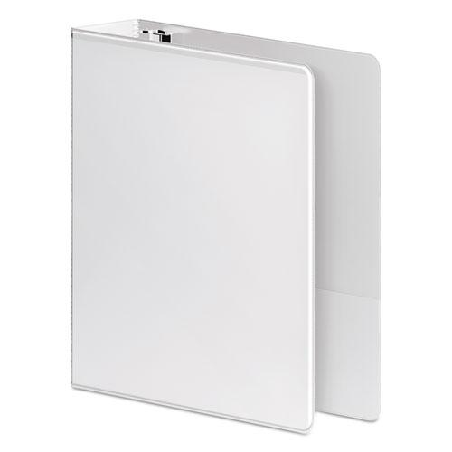 """Heavy-Duty Round Ring View Binder with Extra-Durable Hinge, 3 Rings, 3"""" Capacity, 11 x 8.5, White. Picture 3"""