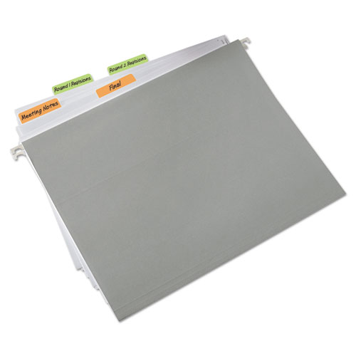 """2"""" and 3"""" Tabs, 1/5-Cut Tabs, Assorted Colors, 2"""" Wide, 44/Pack. Picture 2"""