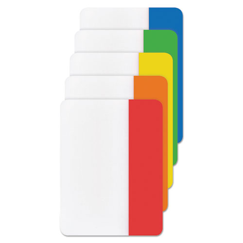 """2"""" and 3"""" Tabs, 1/5-Cut Tabs, Assorted Primary Colors, 2"""" Wide, 30/Pack. Picture 2"""