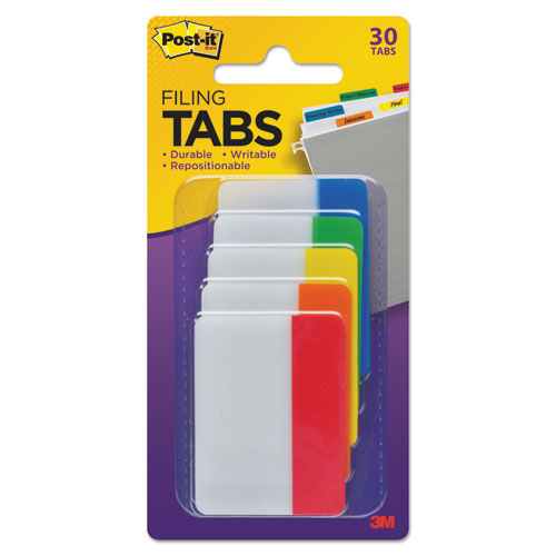 """2"""" and 3"""" Tabs, 1/5-Cut Tabs, Assorted Primary Colors, 2"""" Wide, 30/Pack. Picture 3"""