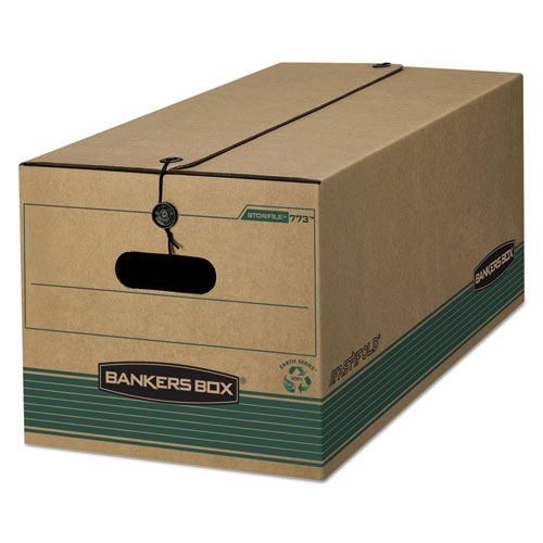"""STOR/FILE Medium-Duty Strength Storage Boxes, Letter Files, 12.25"""" x 24"""" x 10.75"""", Kraft/Green, 12/Carton. Picture 1"""