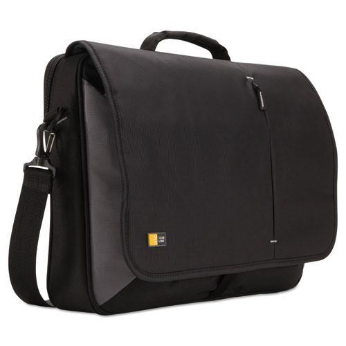 """17"""" Laptop Messenger, 3 3/8 x 17 3/4 x 13 3/4, Black. Picture 1"""
