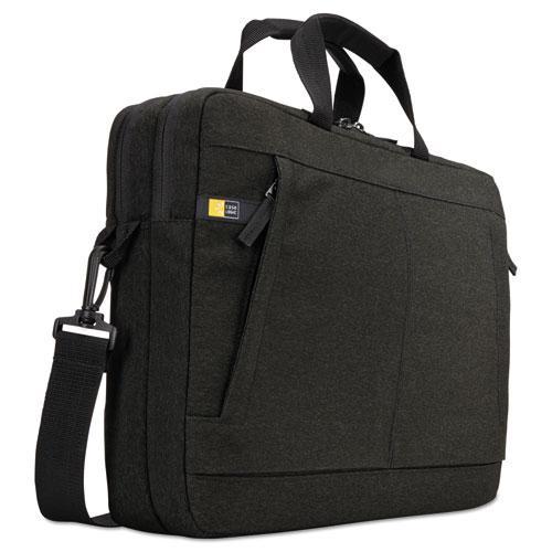 "Huxton 15.6"" Laptop Bag, 2 7/8 x 16 x 11 7/8, Black. Picture 1"