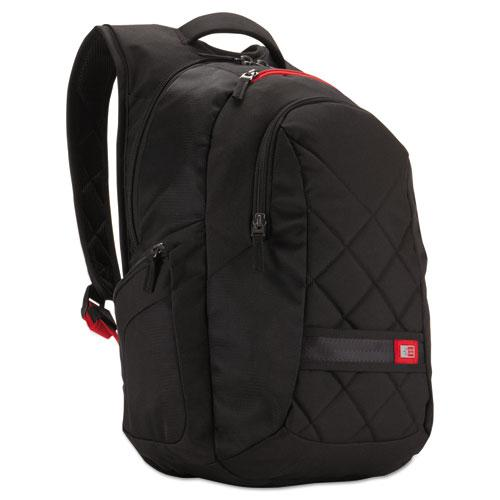 """16"""" Laptop Backpack, 9 1/2 x 14 x 16 3/4, Black. Picture 1"""