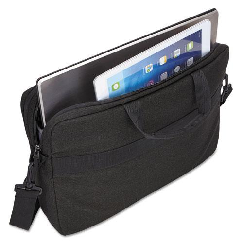 "Huxton 15.6"" Laptop Bag, 2 7/8 x 16 x 11 7/8, Black. Picture 2"