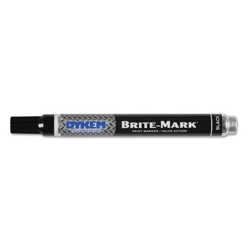 BRITE-MARK Paint Markers, Medium Bullet Tip, Black. Picture 1