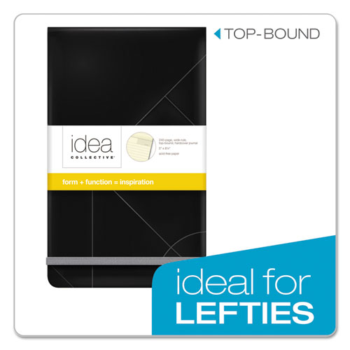 Idea Collective Journal, 1 Subject, Wide/Legal Rule, Black Cover, 5 x 8.25, 120 Sheets. Picture 2